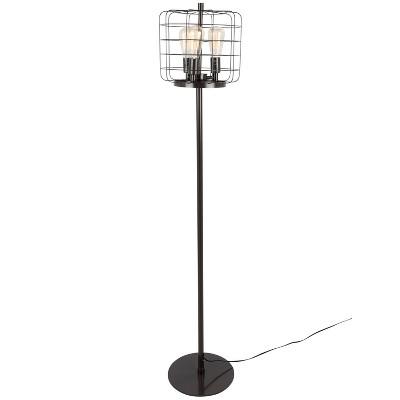Indy Cage Industrial Floor Lamp Antique - Lumisource