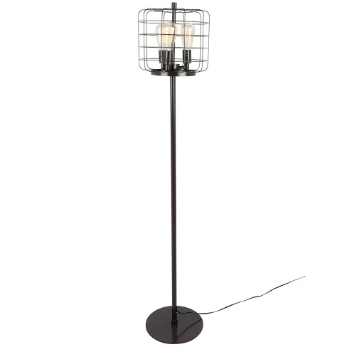 Indy Cage Industrial Floor Lamp Antique  - Lumisource - image 1 of 4