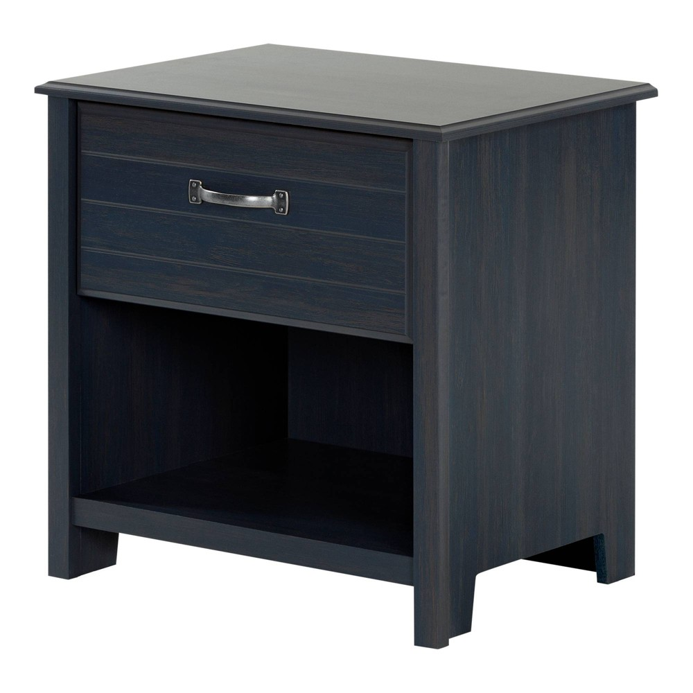 Image of Asten 1 Drawer Nightstand Blueberry - South Shore