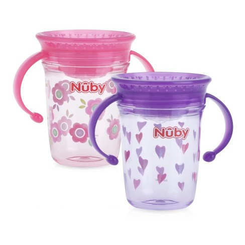 Nuby 2pk Spoutless Tritan Trainer - Girl - image 1 of 1