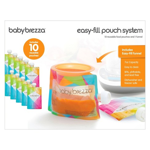 Reusable Food Pouches Freezer Dishwasher Safe Pack of 10 Babies Toddlers
