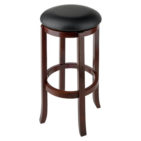 30 Walcott Swivel Bar Stools Walnut Winsome Target