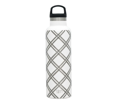 Simple Modern 20oz Ascent Stainless Steel Water Bottle White Lattice - image 1 of 1