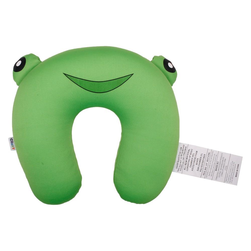 Crckt Kids Neck Pillow - Frog, Green