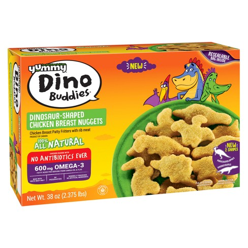 Yummy Dino Buddies Frozen Chicken Breast Nuggets No Antibiotics Ever - 56ct/38oz - image 1 of 3