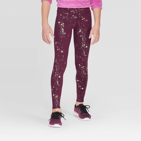 Girls' Foil Printed Performance Leggings - C9 Champion®  - image 1 of 3