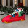 Gemmy Animated Christmas Airblown Inflatable Penguin with Snowman on Bobsled, 3.5 ft Tall - image 2 of 2