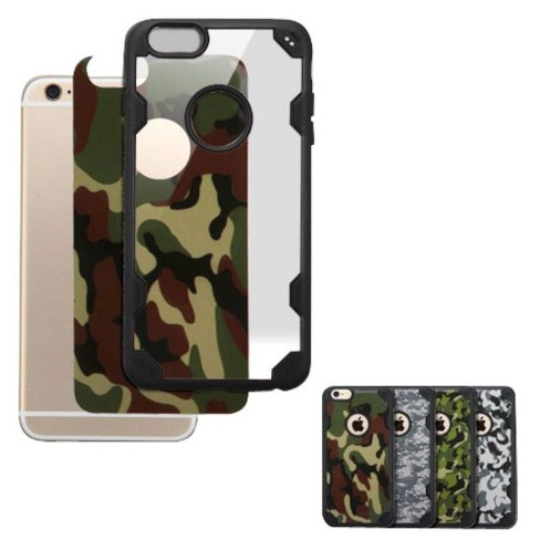 MYBAT For Apple iPhone 6 Plus/6s Plus Clear Black Camouflage Hard Silicone Case Cover - image 1 of 1