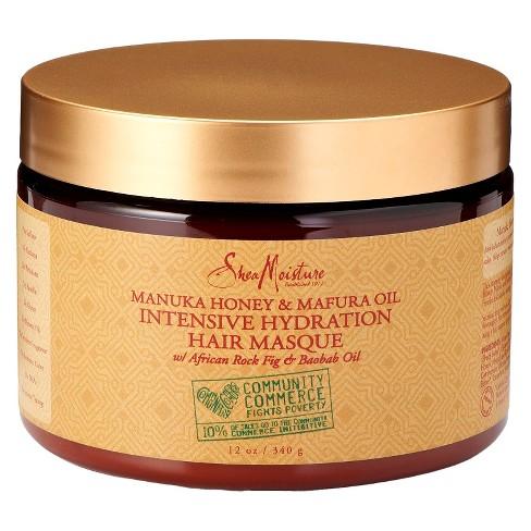 SheaMoisture Manuka Honey & Mafura Oil Intensive Hydration Hair Masque - 12oz - image 1 of 5