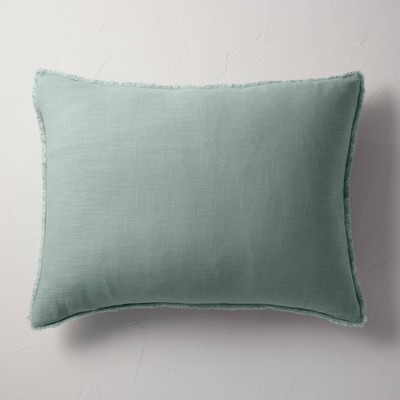 King Euro Heavyweight Linen Blend Throw Pillow Sage Green - Casaluna™