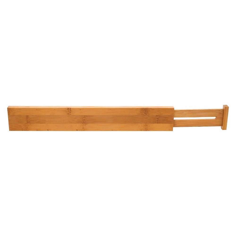 Lipper International Bamboo Kitchen Drawer Dividers - Set of 2, Brown