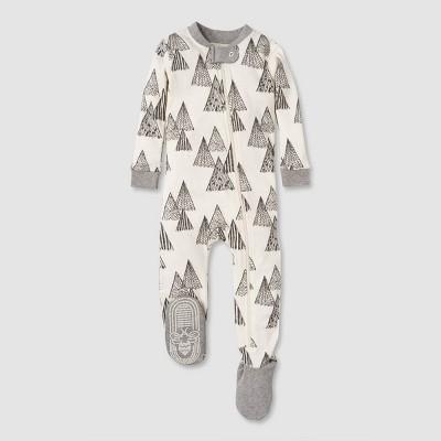 Burt's Bees Baby® Baby Boys' Mountain Peaks Organic Cotton Footed Sleepers - Gray 12M
