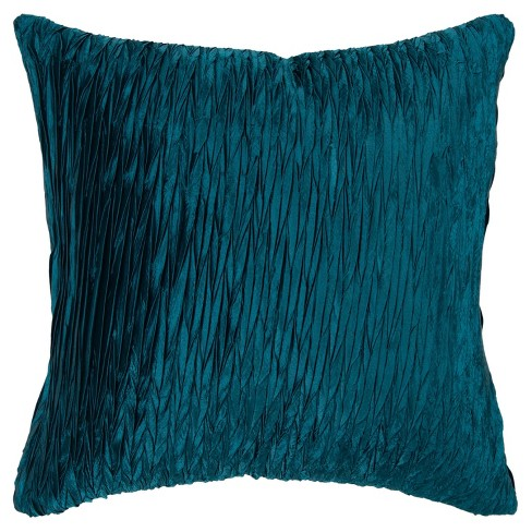 """18""""x18"""" Detailed Solid Textured Square Throw Pillow Blue - Rizzy Home - image 1 of 4"""