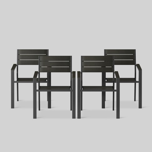 Tremendous Bryant 4Pk Stack Patio Dining Chair Black Project 62 Gmtry Best Dining Table And Chair Ideas Images Gmtryco
