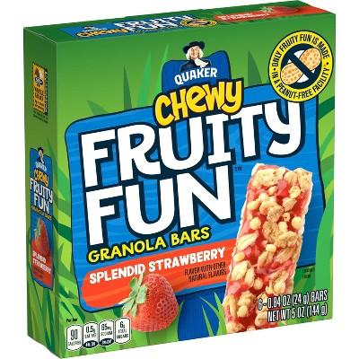 Quaker Chewy Fruity Fun Spendid Strawberry Bars - 5oz/6ct