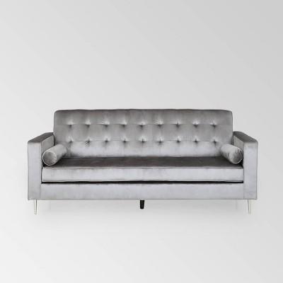 Poynes Modern Glam Tufted Velvet Sofa - Christopher Knight Home