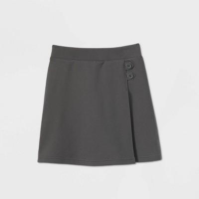 Girls' Stretch Uniform Knit Skorts - Cat & Jack™ Gray