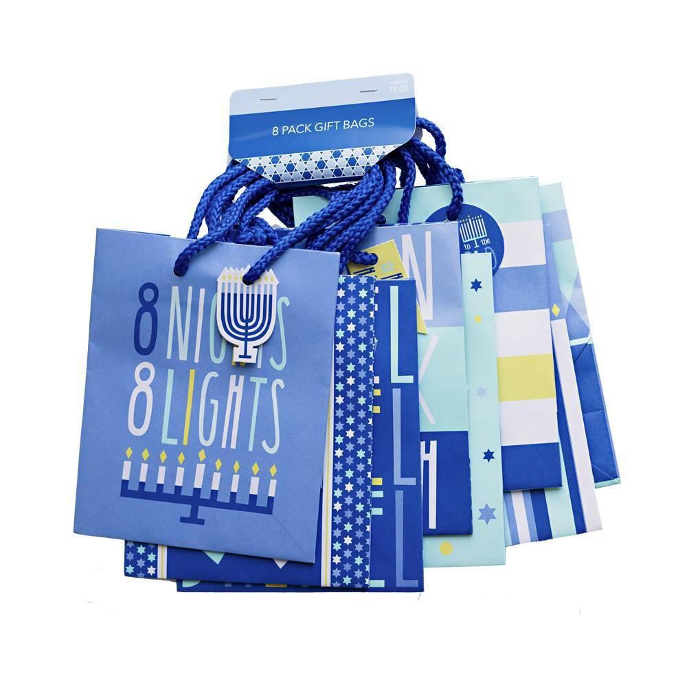 Image of 8pk Hanukkah Petite Gift Bag