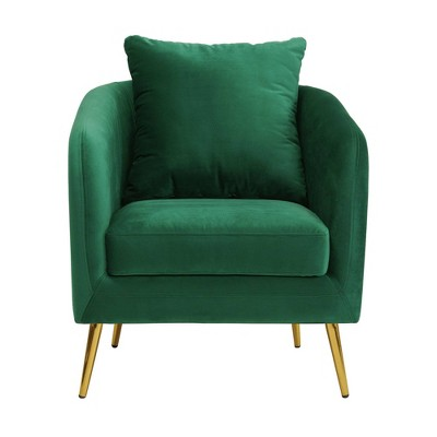 Zuri Accent Chair with Gold Legs - Picket House Furnishings