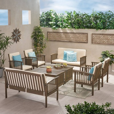 Carolina 8pc Acacia Patio Seating Set - Christopher Knight Home