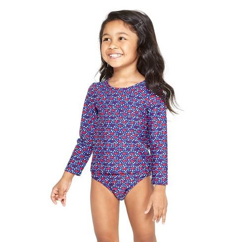 c294ee3021772 Toddler Girls' America Whales Two Piece Rash Guard Set - Red/Blue - Vineyard  Vines® For Target : Target