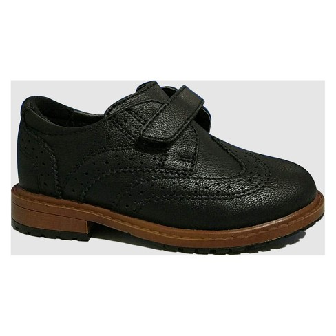 Toddler Boys' Wing Tipped Oxfords - Cat & Jack™ Black 6 - image 1 of 3