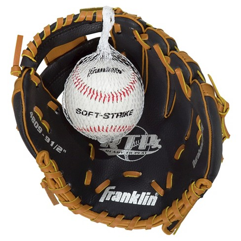 "Franklin Sports Teeball Glove with Ball Right Hand Thrower  (9.5"") - image 1 of 3"