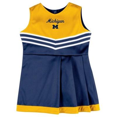 NCAA Michigan Wolverines Girls' 2pc Cheer Set