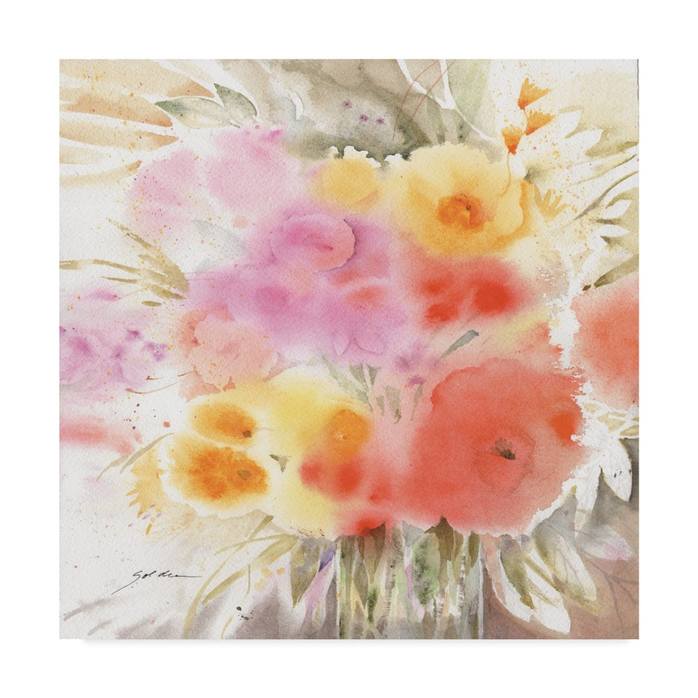 Trademark Fine Art 24 x 24 Sheila Golden 'spring Flowers Square' Canvas Art was $64.99 now $51.99 (20.0% off)