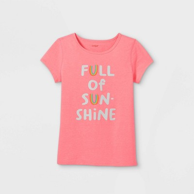 Girls' Adaptive Sunshine Graphic T-Shirt - Cat & Jack™ Pink