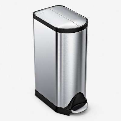 simplehuman 30L Butterfly Step Trash Can Brushed Stainless Steel
