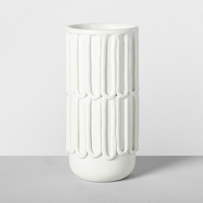 9.5  x 4.6  Decorative Porcelain Vase White - Opalhouse™