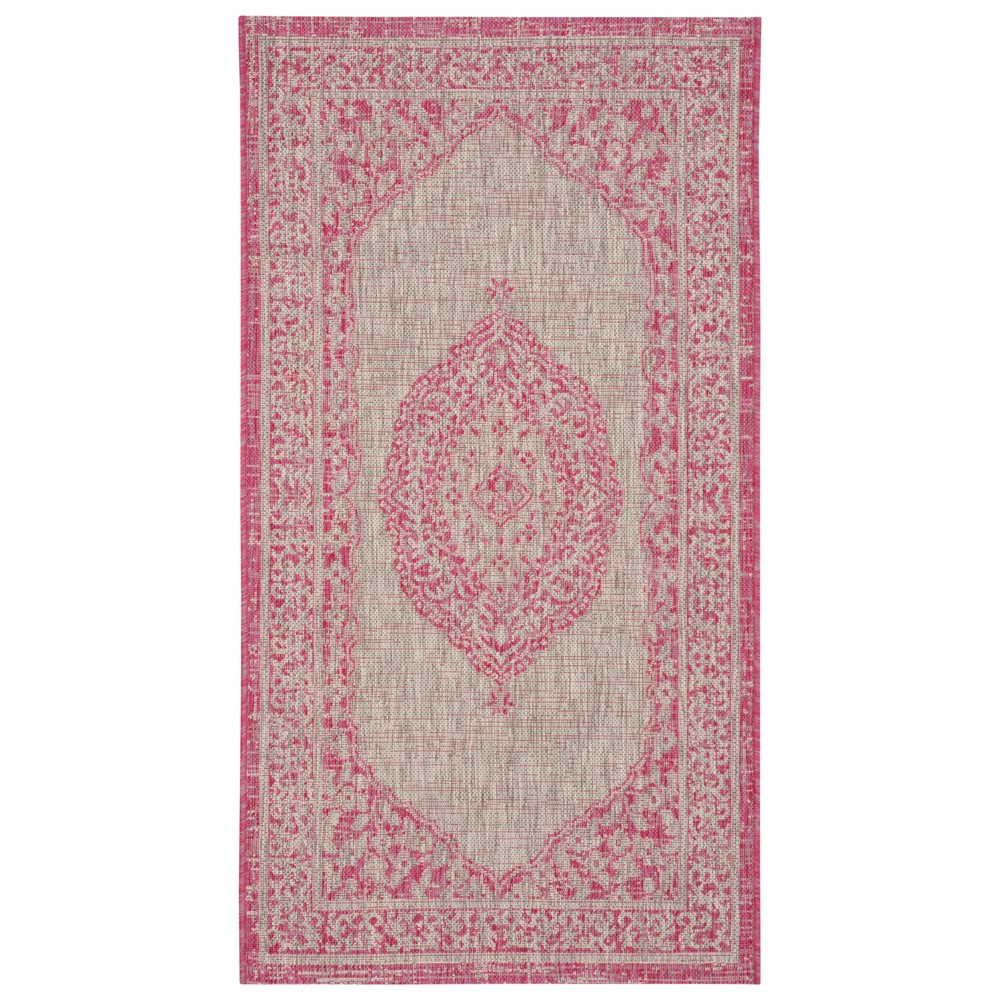 Abel Indoor/Outdoor Rug - Fuchsia (Pink) - 2'x3'7 - Safavieh