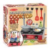 Melissa & Doug 17-Piece Deluxe Wooden Cooktop Set With Wooden Play Food, Durable Pot and Pan - image 4 of 4