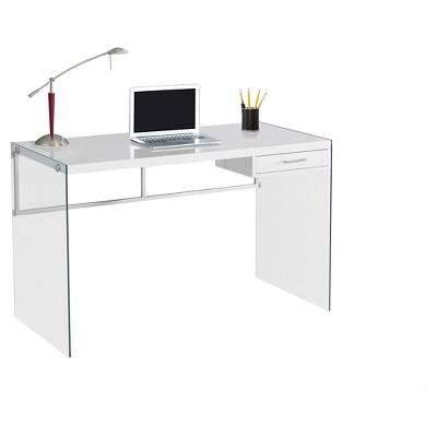 tempered glass computer desk glossy white everyroom target rh target com computer desk white oak computer desk white ikea