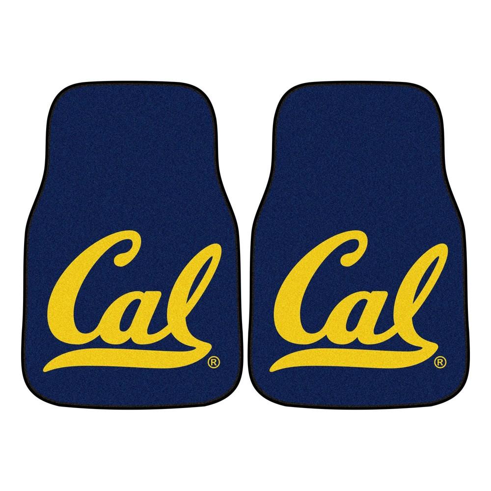 Ncaa University Of Cal Golden Bears Carpet Car Mat Set 2pc