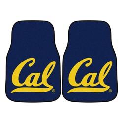 NCAA University of Cal Golden Bears Carpet Car Mat Set - 2pc