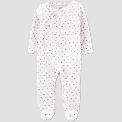 Baby Girls' Sleep 'N Play Floral 1pc Pajama - Just One You® made by carter's White 6M