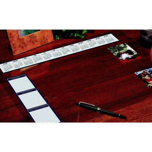 House Of Doolittle Vinyl Heavy Gauge Desk Protector With Reference Calendars And Note Strip 20 X 36 Inches Clear