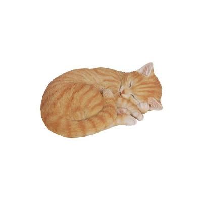 "4.5"" Polyresin Sleeping Tabby Cat Statue Orange - Hi-Line Gift"