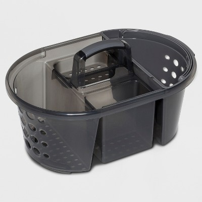Bathtub Caddy Gray Polyester - Room Essentials™