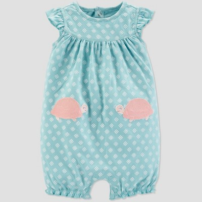 Baby Girls' Turtle Romper - Just One You® made by carter's Blue 3M