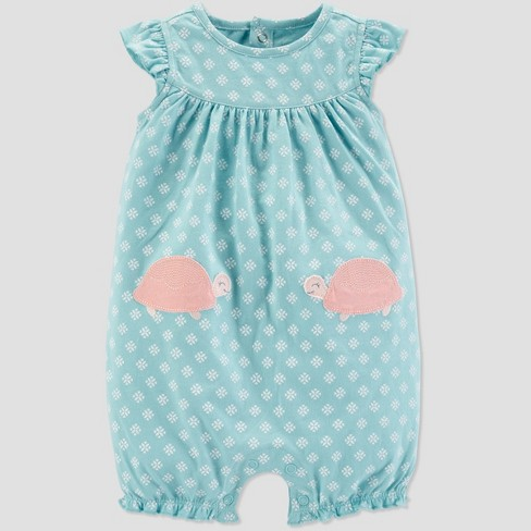 Baby Girls' Turtle Romper - Just One You® made by carter's Blue - image 1 of 1