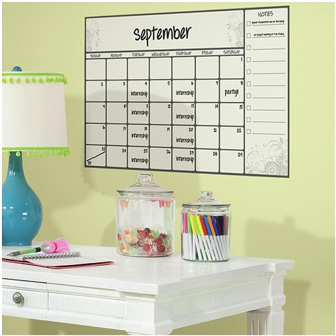 RoomMates Scroll Dry Erase Calendar Peel and Stick Wall Decals - image 1 of 2