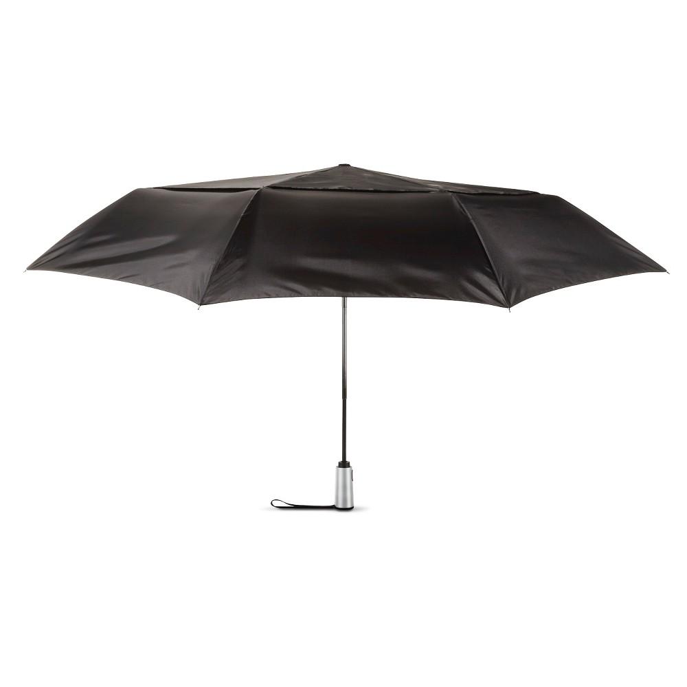 Image of ShedRain Auto Open/Close Air Vent Compact Umbrella - Black