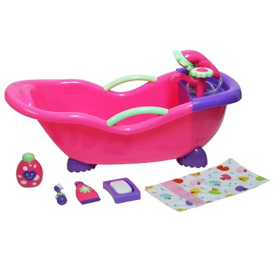 JC Toys For Keeps! Baby Doll Bath Tub with Accessories