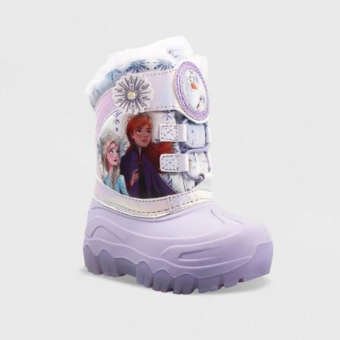Toddler Girls' Frozen Winter Boots - Purple - image 1 of 4
