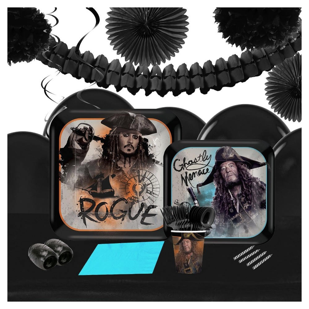 Pirates Of The Caribbean 16 Guest Tableware And Deco Kit
