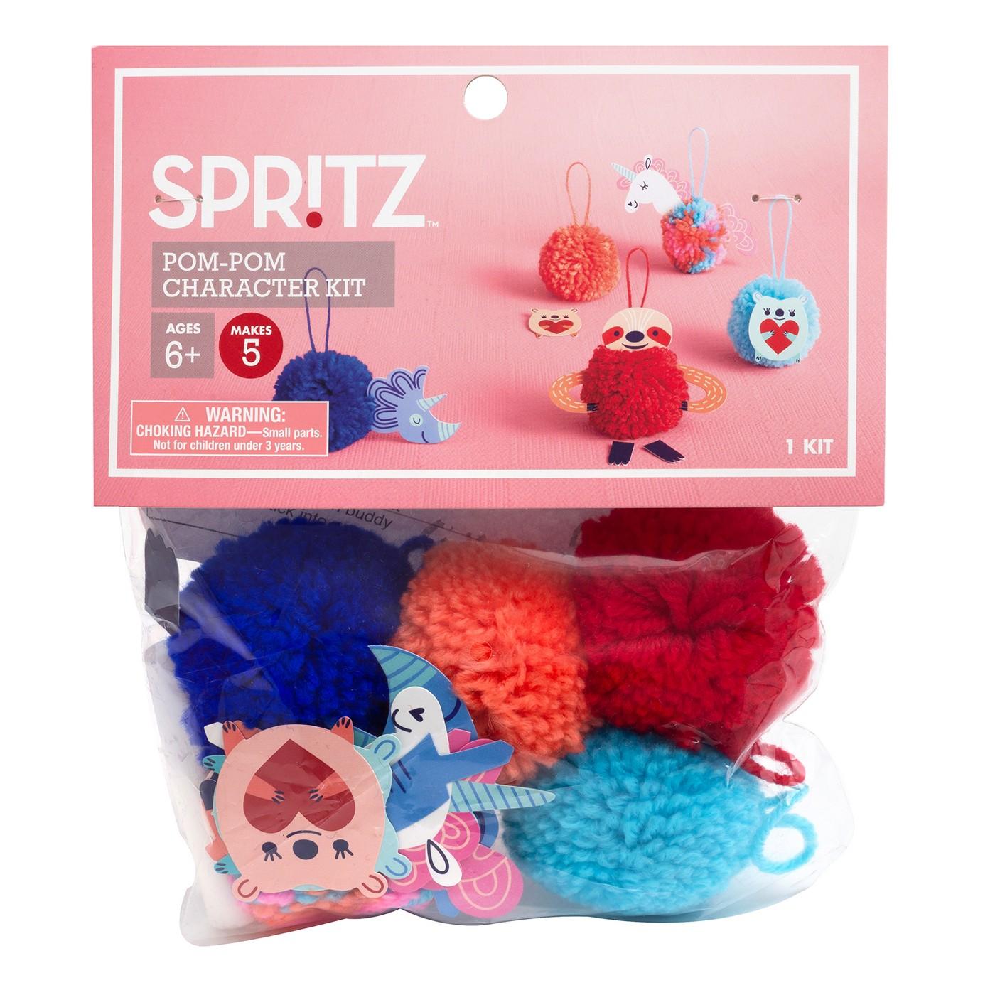 18pc Pom-Pom Character Kit - Spritz™ - image 1 of 3