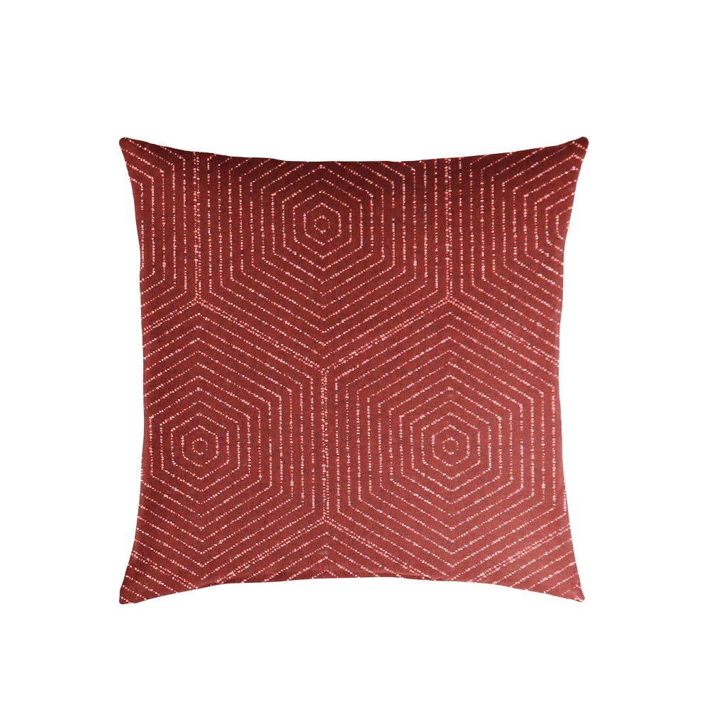 "Image of ""18"""" Sunbrella Outdoor Throw Pillow Ruby"""